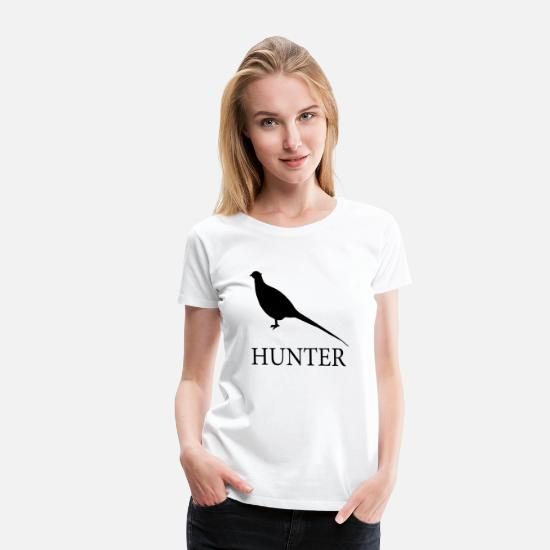 Pheasant T-Shirts - Pheasant Hunter - Women's Premium T-Shirt white