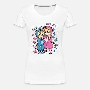 b75d09a9936d Cute Siblings Boy and Girl pyjamas Women s Premium Tank Top ...