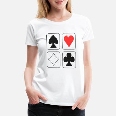 Poker Cards Poker Card - Women's Premium T-Shirt