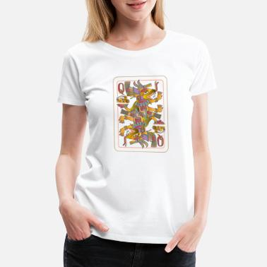Inca Playing cards with Queen Aztec gods - Women's Premium T-Shirt