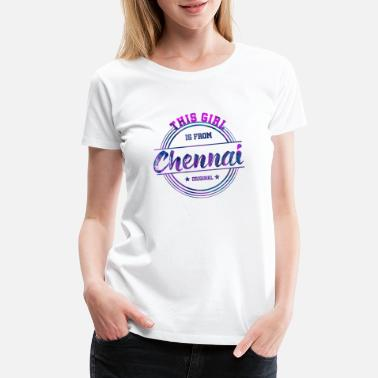 Souvenir Chennai India Girl - Women's Premium T-Shirt