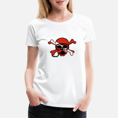 Scuba Diving Skull and Crossbones Scuba Diving Dive Flag design - Women's Premium T-Shirt