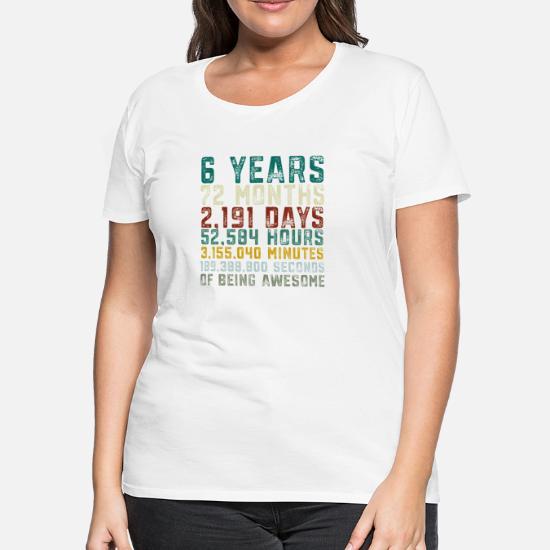 Womens Premium T ShirtVintage 6 Years Old 6th Birthday Boy Anniversary