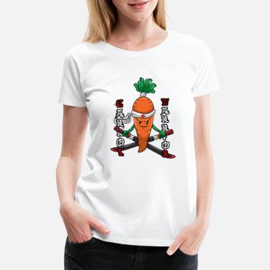 Kids Vegetable Kids Vegetable Design Carrot Warrior - Women's Premium T-Shirt