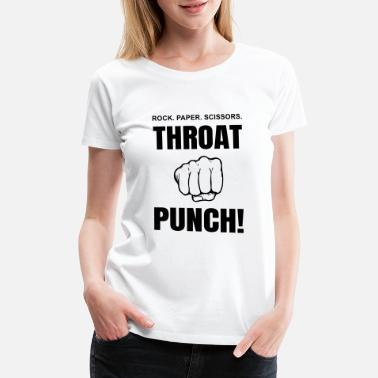 Throat Cancer Throat Punch - Women's Premium T-Shirt
