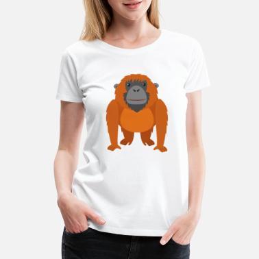 9116893d1 Gorilla Kids Cartoon animal monkey gorilla funny kids picture - Women's  Premium. New. Women's Premium T-Shirt