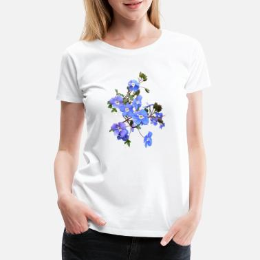 Flowers Sunflower flowers lilies tulips orchids sunflower dahlia ger - Women's Premium T-Shirt