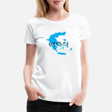 Attractive Greece Map Design for Men, Women and Kids - Women's Premium T-Shirt