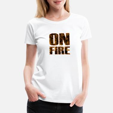 Torn On Fire Torn Letters Quote - Women's Premium T-Shirt