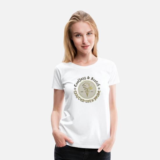 Usa T-Shirts - Cool Jazz & Scotch The Lion 'Mojo Design' Shirt - Women's Premium T-Shirt white