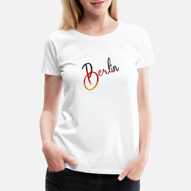 Spree Berlin - Deutschland - Germany - National Flag - Women's Premium T-Shirt