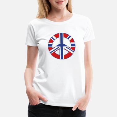 Terrorism ☮♥Peace Sign with the flag of UK-Union Jack♥☮ - Women's Premium T-Shirt