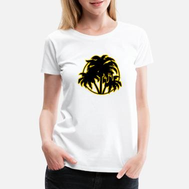 Palm Tree Palm trees - Women's Premium T-Shirt