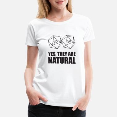 Game Controller yes they are natural - Women's Premium T-Shirt