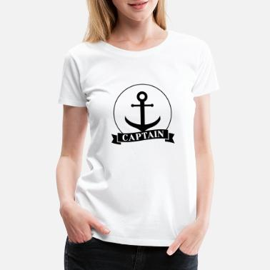 Captain Grandpa Maritime Sailor Sea Seafaring Ship Present - Women's Premium T-Shirt