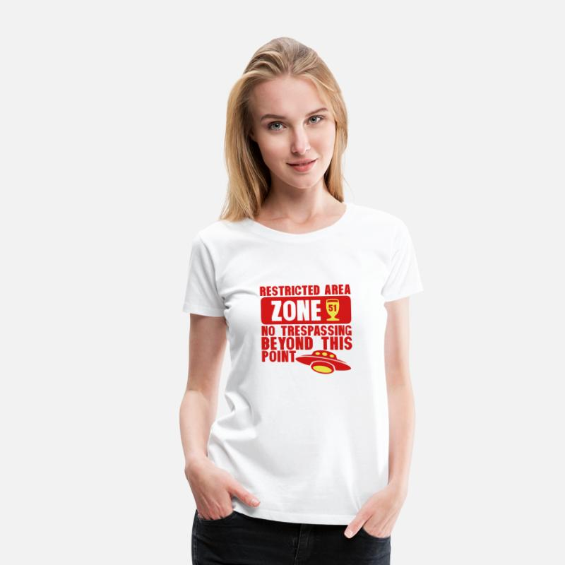 Alcohol T-Shirts - area 51 flying saucer alcohol aperitif - Women's Premium T-Shirt white