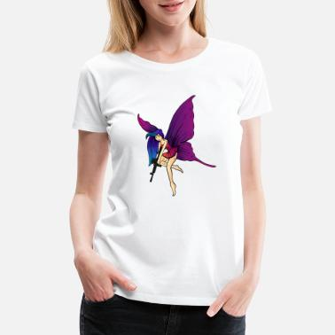 M16 Wild fairytale fairy with weapon. - Women's Premium T-Shirt