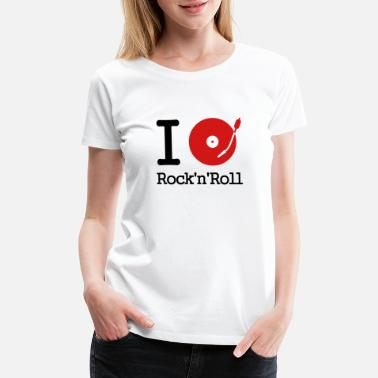 Stereo I dj / play / listen to rock & roll - Women's Premium T-Shirt