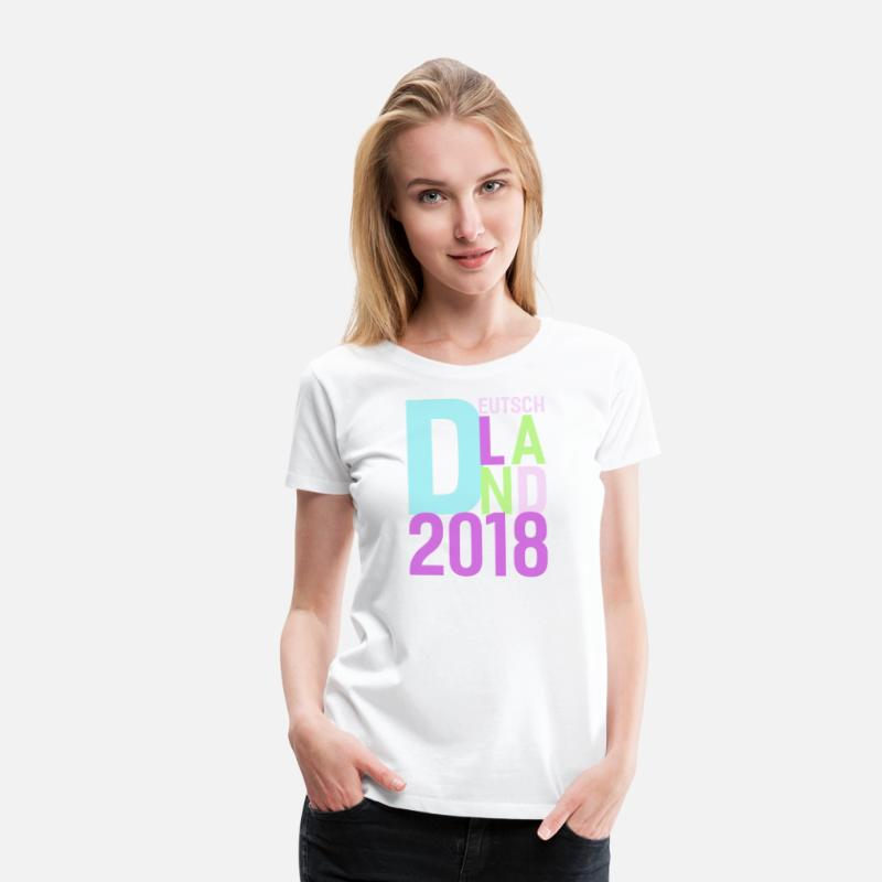 ea4f70db7 Russian T-Shirts - Germany Football Jersey Women 2018 - Soccer Tshirt - Women s  Premium