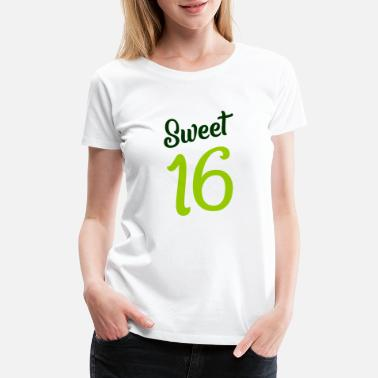 Sixteen Sweet 16 - Birthday Girl - sixteen - Women's Premium T-Shirt