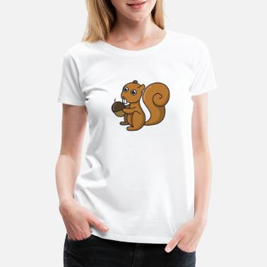 Nuts Squirrels Squirrel comic animal gift idea kids funny drawing - Women's Premium T-Shirt