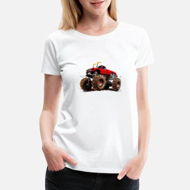 Cartoon Auto CarTruck - Women's Premium T-Shirt