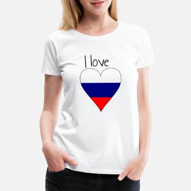 Mother Russia I love Russia, Gift idea, Russian Flag - Women's Premium T-Shirt