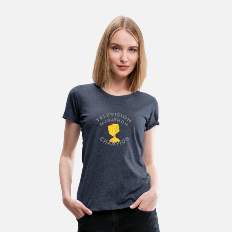 47e0ee221e27 TELEVISION MARATHON CHAMPION Women s Premium T-Shirt