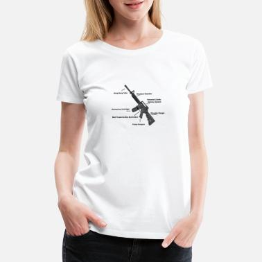 Anatomy of a Gun – Funny - 2nd amendment - Women's Premium T-Shirt