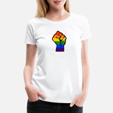 Christopher Street Day LGBT Fight for Human rights CSD Gay Pride Rainbow - Women's Premium T-Shirt