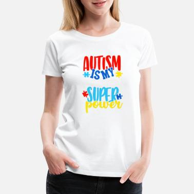 Autism Masks Autism Is My Superpower Autism Awareness Mask Puzz - Women's Premium T-Shirt