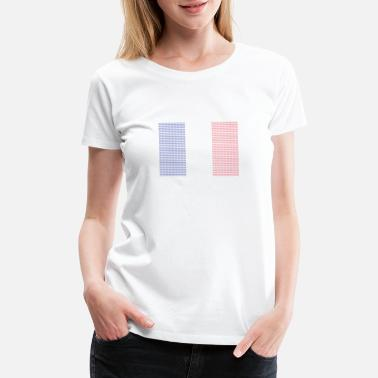 Francesco French Flag Tricolor - Women's Premium T-Shirt