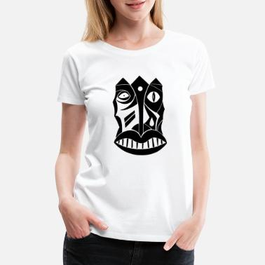Overly mask king warrior throne manly man strenght strong - Women's Premium T-Shirt