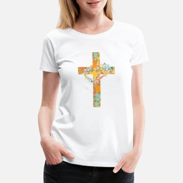 Jesus Face Abstract Jesus Design - Women's Premium T-Shirt
