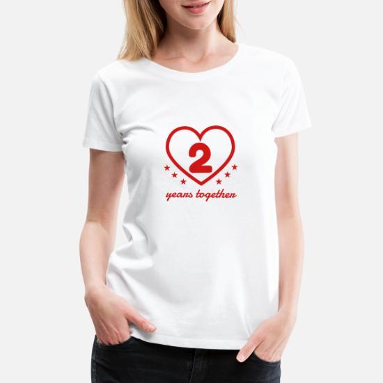 9c0bafc8 Marriage Mariage Wedding Anniversary 2 2nd Cotton Women's Premium T ...