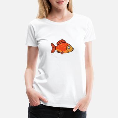 Goldfish Cool Cute Funny Fish Fishing - Women's Premium T-Shirt