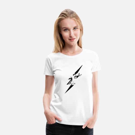 Sad T-Shirts - Butterfly with lightning and face. - Women's Premium T-Shirt white