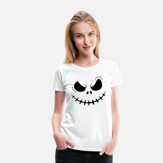 Skeleton T-Shirts - Women's Skellington Shirt - Women's Premium T-Shirt white