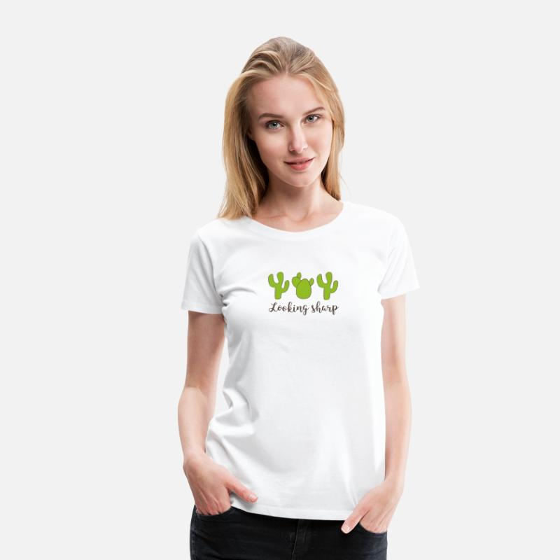 Valentine's Day T-Shirts - cactus - Women's Premium T-Shirt white