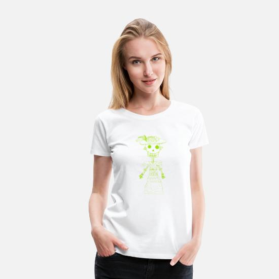 Floral T-Shirts - Mexico Inspired Design - Women's Premium T-Shirt white