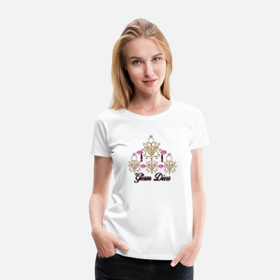 Love T-Shirts - Glam Diva - Women's Premium T-Shirt white