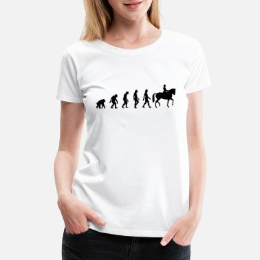 Horse Riding Evolution The Evolution of Riding - Women's Premium T-Shirt