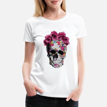 Sugar Skull a beautiful death tee - Women's Premium T-Shirt