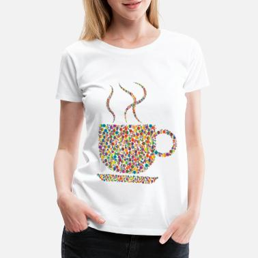 Vivid Colorful Coffee Circles 4 - Women's Premium T-Shirt