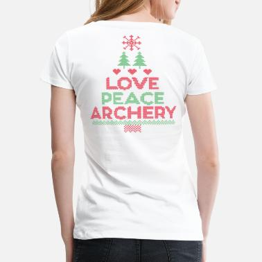 Arrows Love, Peace & Archery X-Mas Edition (by BOWTIQUE) - Women's Premium T-Shirt