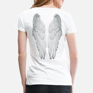 Angelwings Long Silvered Wings - Women's Premium T-Shirt