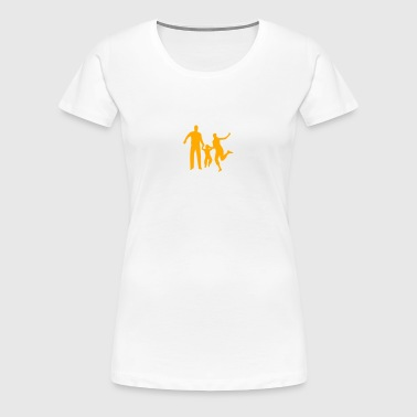 Family - Parents - Kids - Playing - Women's Premium T-Shirt