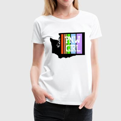 pnw rainbow - Women's Premium T-Shirt