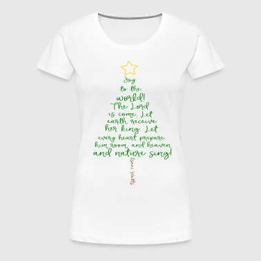 Joy To The World Christmas Tree - Women's Premium T-Shirt