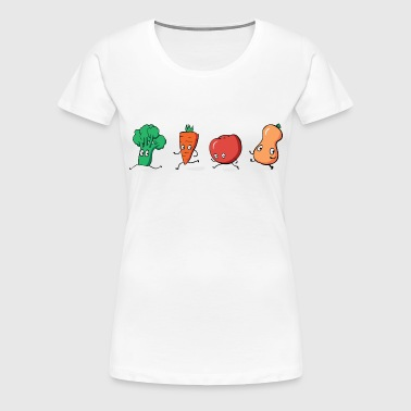 Run little vegies! Run! - Women's Premium T-Shirt